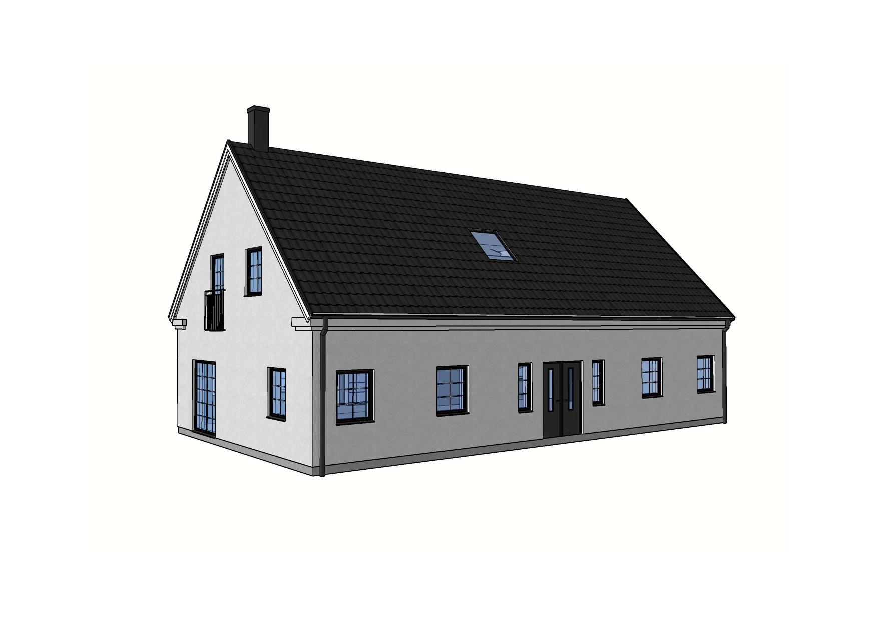 Fasad Villa Älvdalen – Referenshus