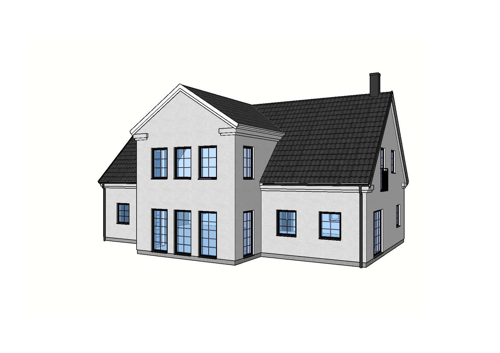 Fasad Villa Alvdalen – Referenshus